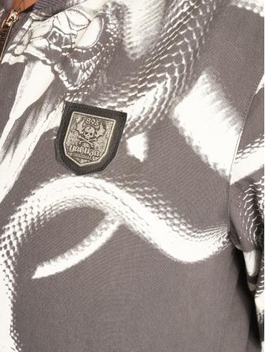 Yakuza Ladies Bomber Jacket Meduse Crop In Gray