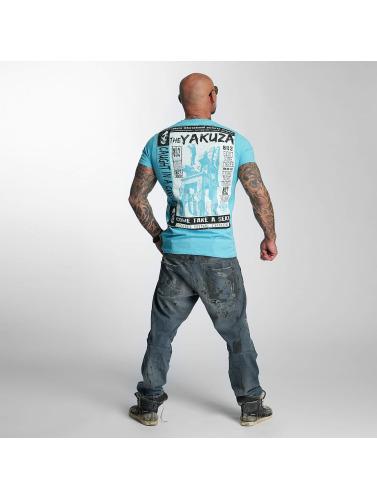 Yakuza Hombres Camiseta Take A Seat in azul