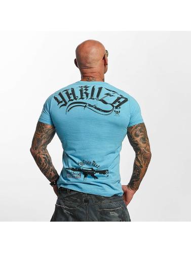 Yakuza Hombres Camiseta Armed Society in azul