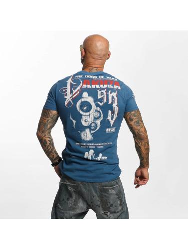 Yakuza Hombres Camiseta Havoc in azul