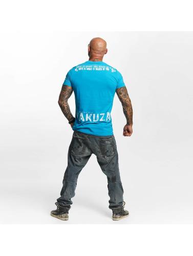 Yakuza Hombres Camiseta Love Hate in azul