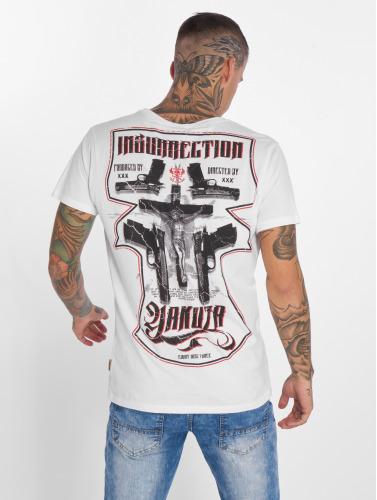 Yakuza Hombres Camiseta Jesus in blanco