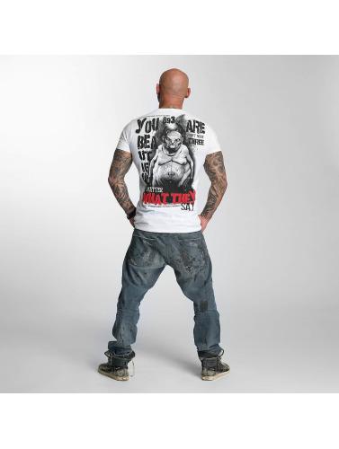 Yakuza Hombres Camiseta U R Beautiful in blanco