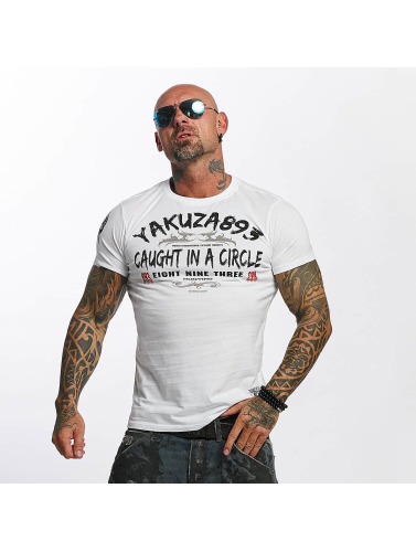 Yakuza Hombres Camiseta Caught In A Circle in blanco