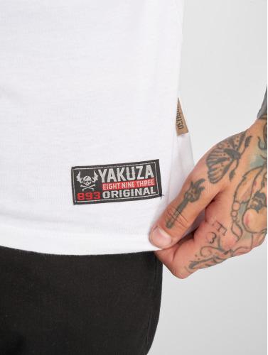 Yakuza Hombres Camiseta Helmet Skull in blanco