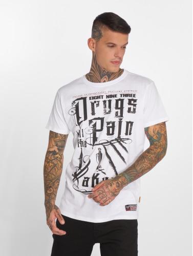 Yakuza Hombres Camiseta PAIN in blanco