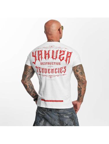 Yakuza Hombres Camiseta Destructive Tendencies in blanco
