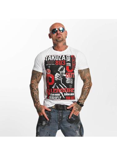 Yakuza Hombres Camiseta Jerk it out in blanco