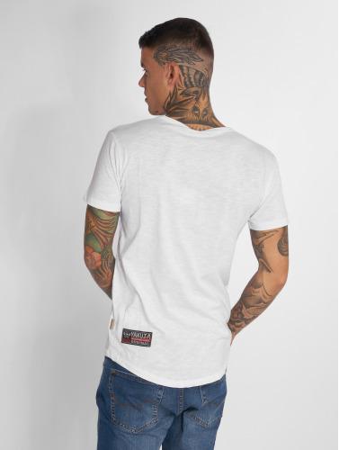 Yakuza Hombres Camiseta Basic in blanco