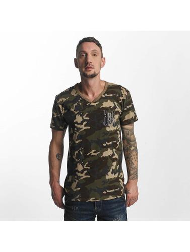 Yakuza Hombres Camiseta Basic in camuflaje