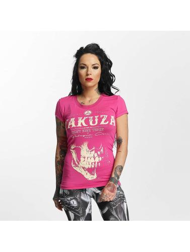 Yakuza Mujeres Camiseta Daily Skull in fucsia