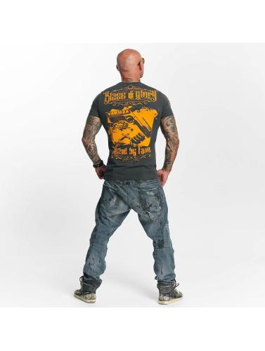 Yakuza Hombres Camiseta Blaze N Glory in gris