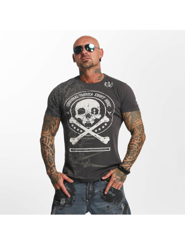 Yakuza Hombres Camiseta Face in gris