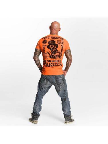 Yakuza Hombres Camiseta Trust in naranja