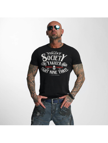 Yakuza Hombres Camiseta Violent Society in negro