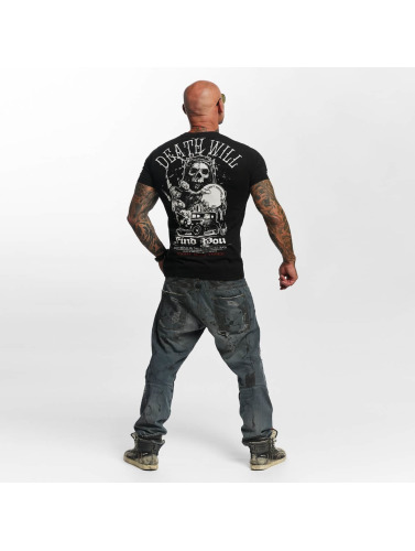 Yakuza Hombres Camiseta Death Will Find You in negro
