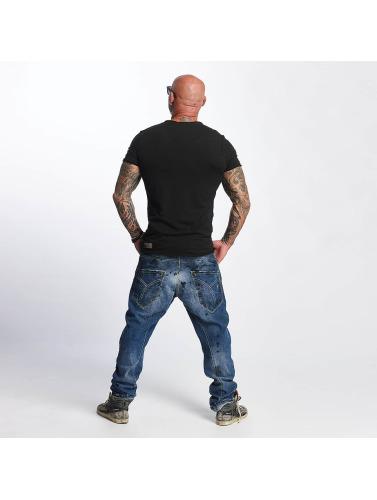 Yakuza Hombres Camiseta Basic in negro