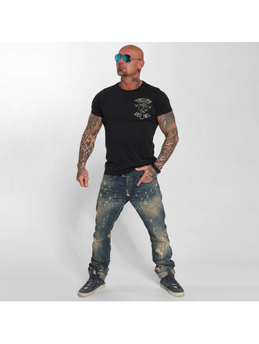 Yakuza Hombres Camiseta Sick Fuck Military in negro