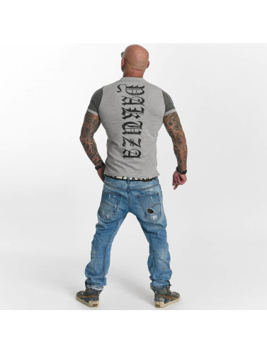 Yakuza Hombres Camiseta polo AK Two Faces in gris