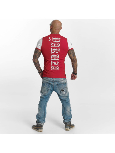 Yakuza Hombres Camiseta polo AK Two Faces in rojo