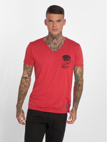 Yakuza Hombres Camiseta Burnout in rojo