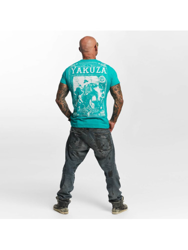 Yakuza Hombres Camiseta Farther in turquesa