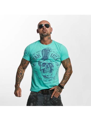 Yakuza Hombres Camiseta Addicted in turquesa