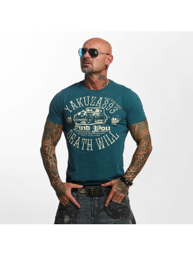 Yakuza Hombres Camiseta Death Will Find You in verde