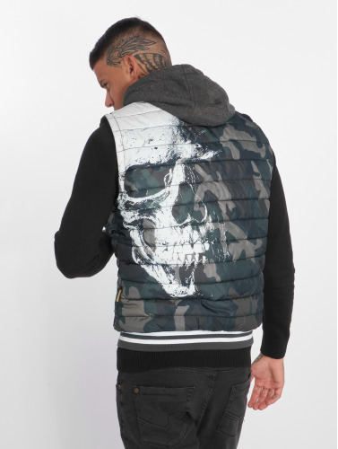 Yakuza Hombres Chaleco Skull in camuflaje
