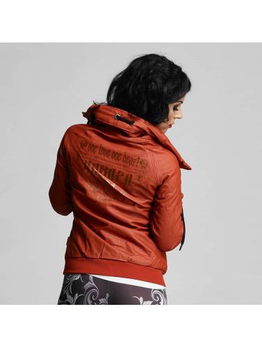 Yakuza Mujeres Chaqueta de cuero One Love Faux Leather in rojo