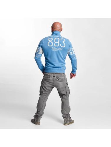 Yakuza Hombres Chaqueta de entretiempo Skull Label in azul