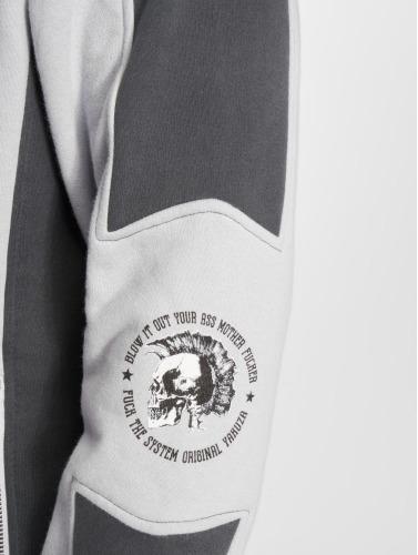 Yakuza Hombres Chaqueta de entretiempo Punx Two Face in gris