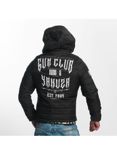Yakuza Hombres Chaqueta de entretiempo Gun Club Quilted in negro