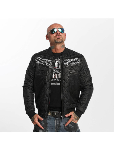 Yakuza Hombres Chaqueta de entretiempo Authentic Diamond in negro