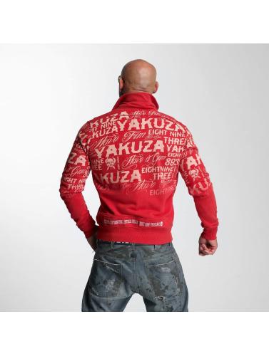 Yakuza Hombres Chaqueta de entretiempo Allover Label in rojo