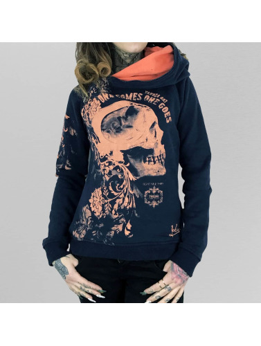 Yakuza Damen Hoody One Comes in blau