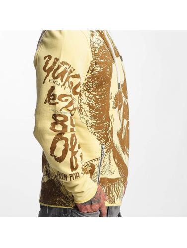 Yakuza Herren Hoody Allover King in gelb
