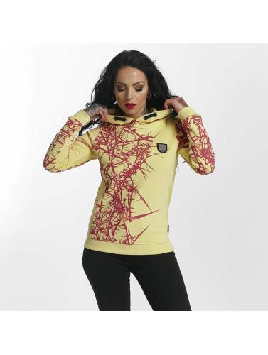 Yakuza Damen Hoody Thorns Flex in gelb