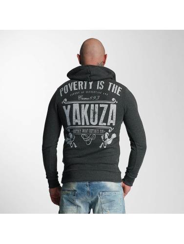 Yakuza Herren Hoody Poverty in grau