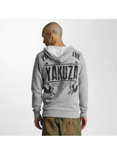 Yakuza Herren Hoody Poverty in grau