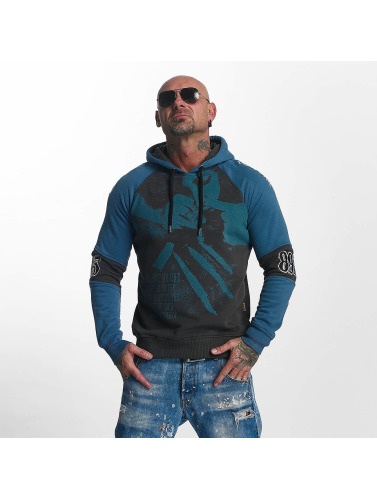 Yakuza Herren Hoody Snorting Two Face in grau