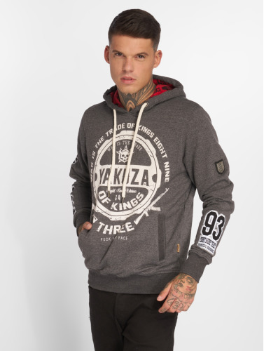 Yakuza Herren Hoody Trade Of Kings in grau