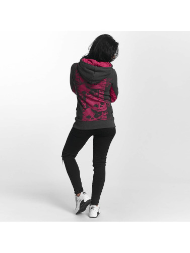 Yakuza Damen Hoody Skull Cross in grau