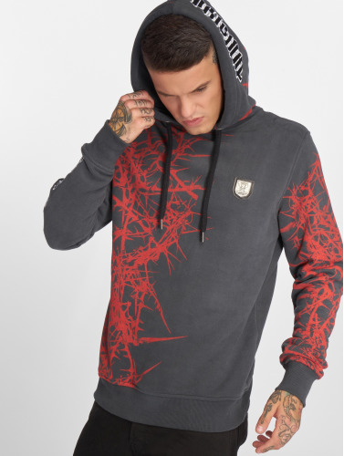 Yakuza Herren Hoody Pointed in grau