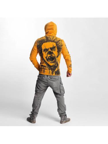 Yakuza Herren Hoody Allover King in orange
