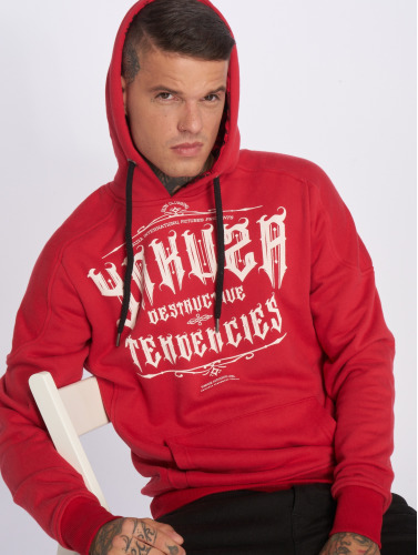 Yakuza Herren Hoody Destructive Tendencies in rot