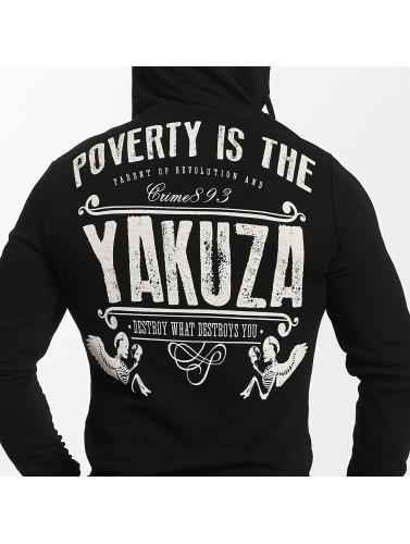 Yakuza Herren Hoody Poverty in schwarz