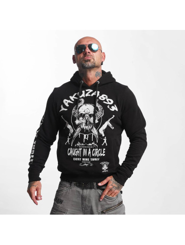 Yakuza Herren Hoody Caught In A Circle in schwarz