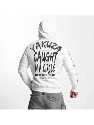 Yakuza Herren Hoody Caught In A Circle in weiß