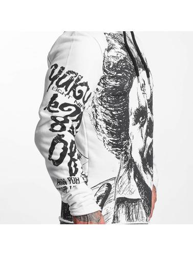 Yakuza Herren Hoody Allover King in weiß